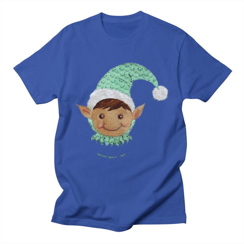 Christmas Elf Men's T-shirt by AntonAbela-Art's Artist Shop