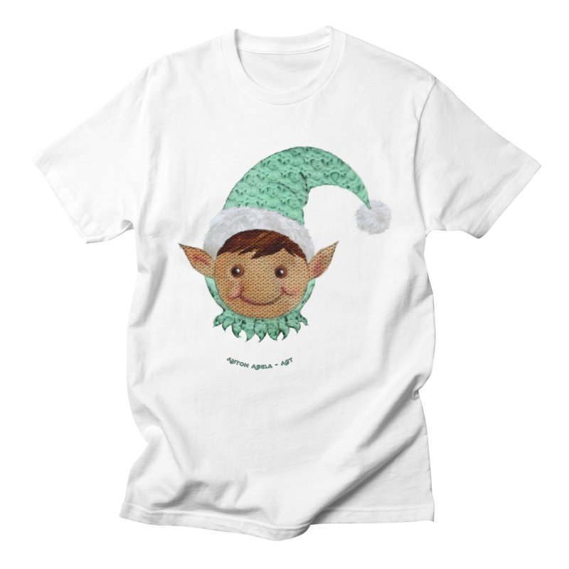 Christmas Elf Men's T-shirt by AntonAbela-Art's Artist Shop