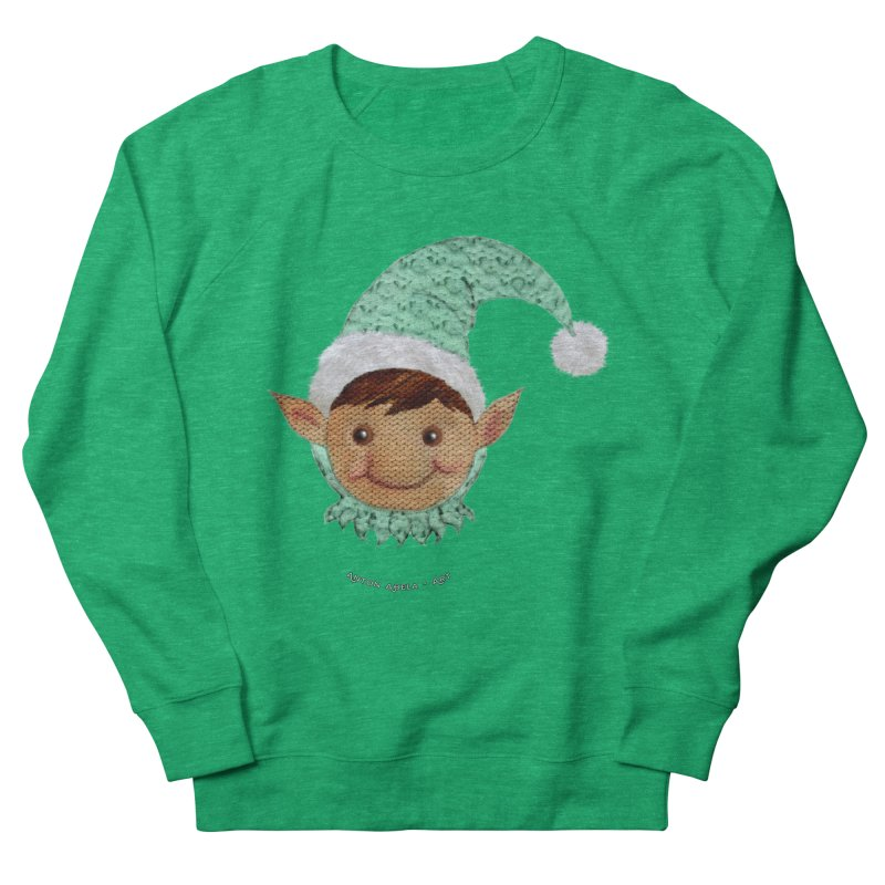 Christmas Elf Women's Sweatshirt by AntonAbela-Art's Artist Shop