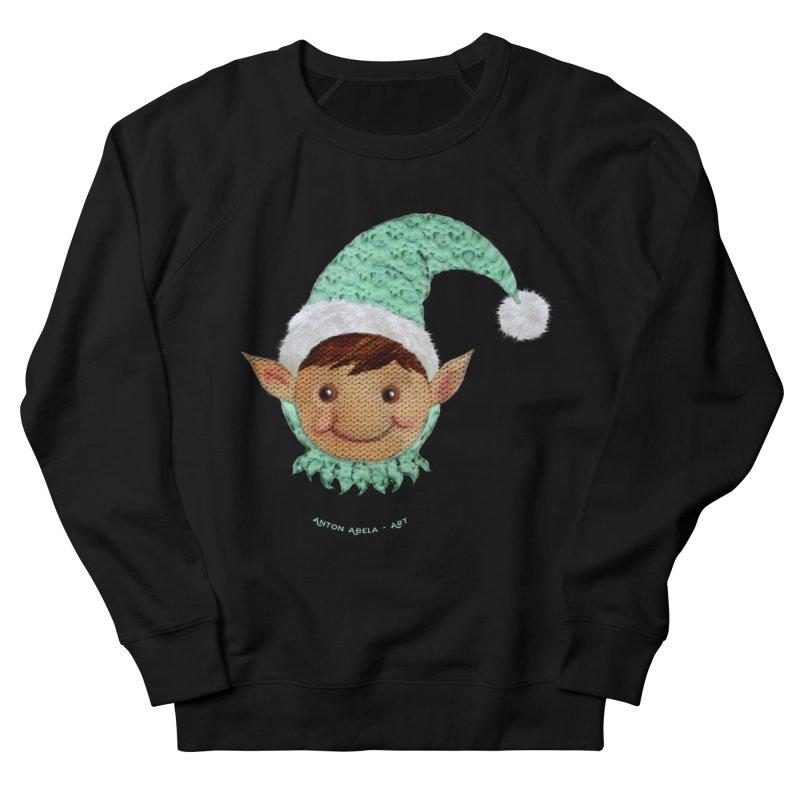 Christmas Elf Women's Sweatshirt by AntonAbela-Art's Artist Shop