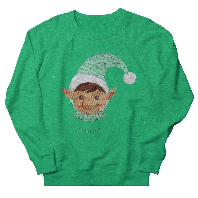 Christmas Elf Men's Sweatshirt by AntonAbela-Art's Artist Shop