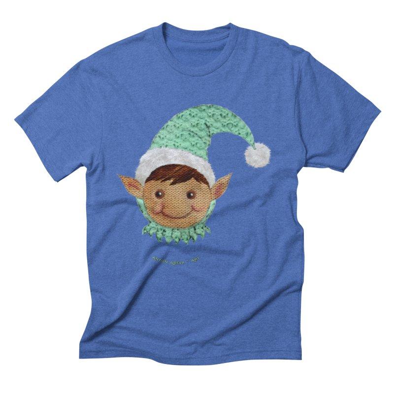 Christmas Elf Men's Triblend T-shirt by AntonAbela-Art's Artist Shop