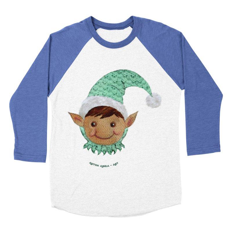 Christmas Elf Women's Baseball Triblend T-Shirt by AntonAbela-Art's Artist Shop