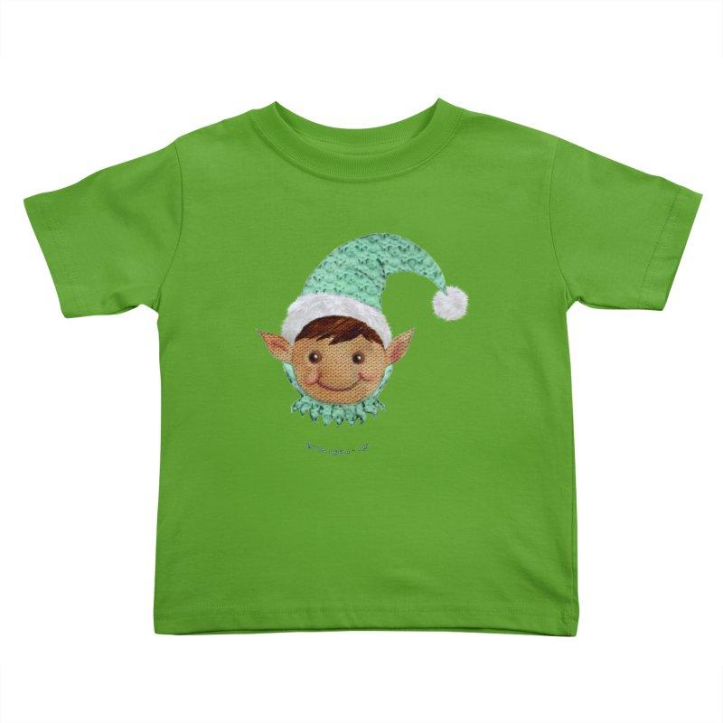 Christmas Elf Kids Toddler T-Shirt by AntonAbela-Art's Artist Shop