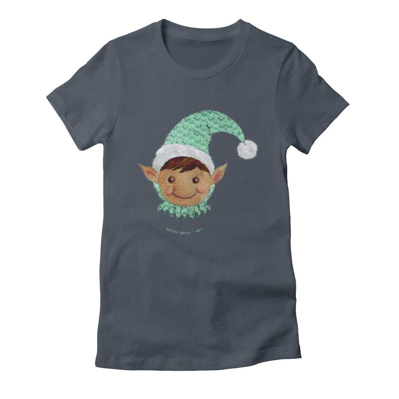 Christmas Elf Women's T-Shirt by AntonAbela-Art's Artist Shop
