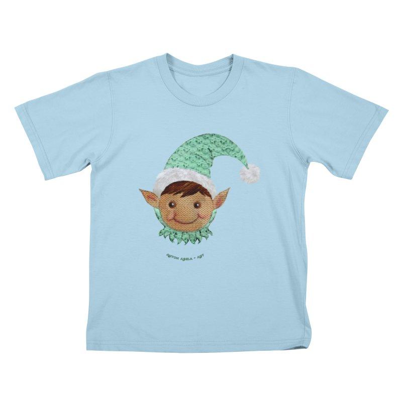 Christmas Elf Kids T-Shirt by AntonAbela-Art's Artist Shop