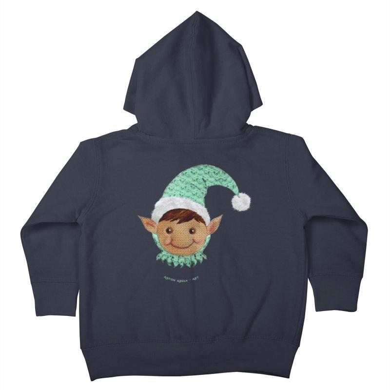 Christmas Elf Kids Toddler Zip-Up Hoody by AntonAbela-Art's Artist Shop