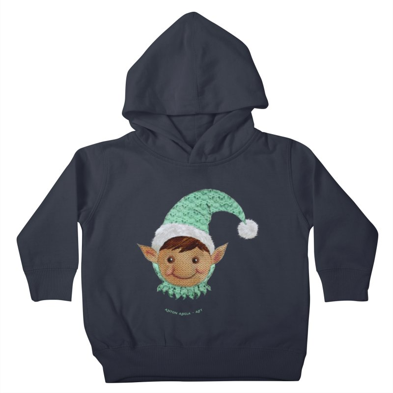 Christmas Elf Kids Toddler Pullover Hoody by AntonAbela-Art's Artist Shop