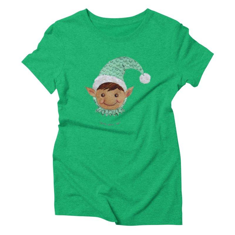 Christmas Elf Women's Triblend T-shirt by AntonAbela-Art's Artist Shop