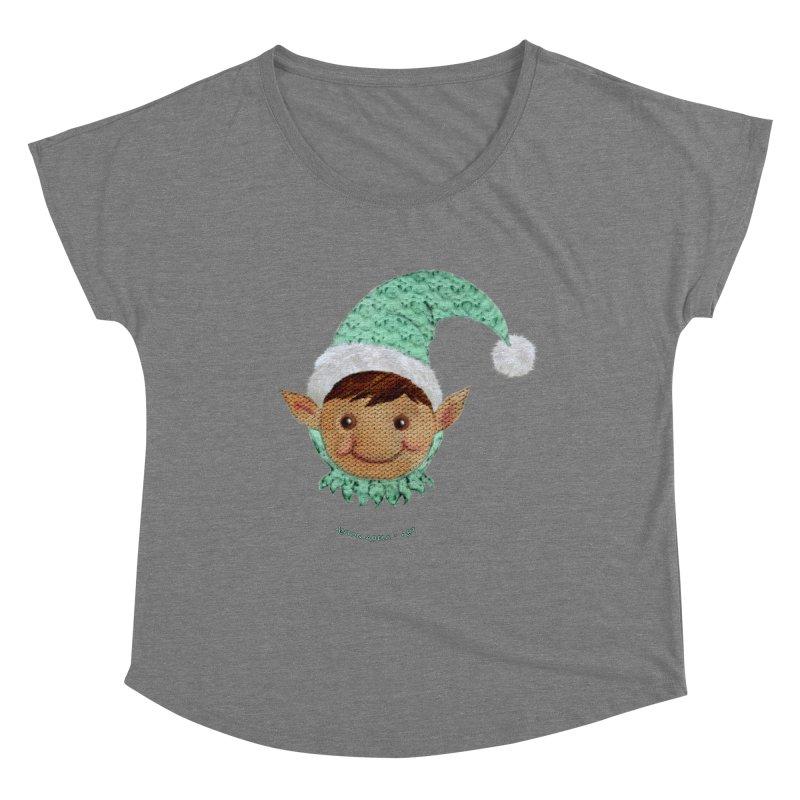 Christmas Elf Women's Scoop Neck by AntonAbela-Art's Artist Shop