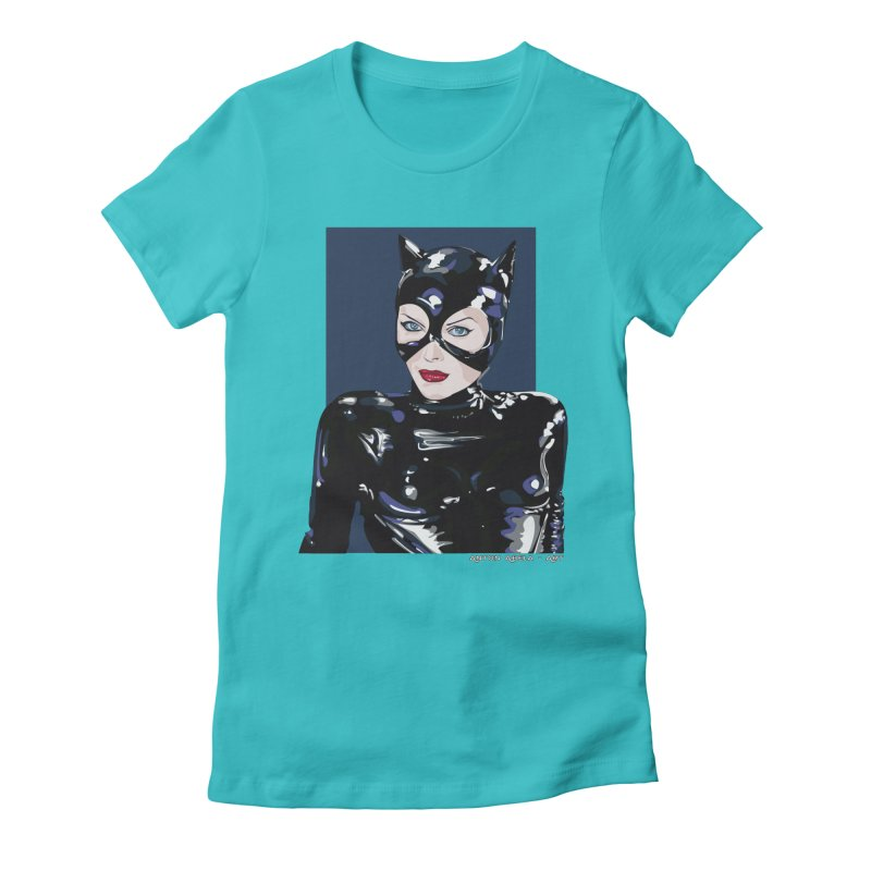 Meow! The Greatest Women's Fitted T-Shirt by AntonAbela-Art's Artist Shop