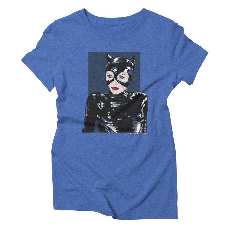 Meow! The Greatest Women's Triblend T-shirt by AntonAbela-Art's Artist Shop