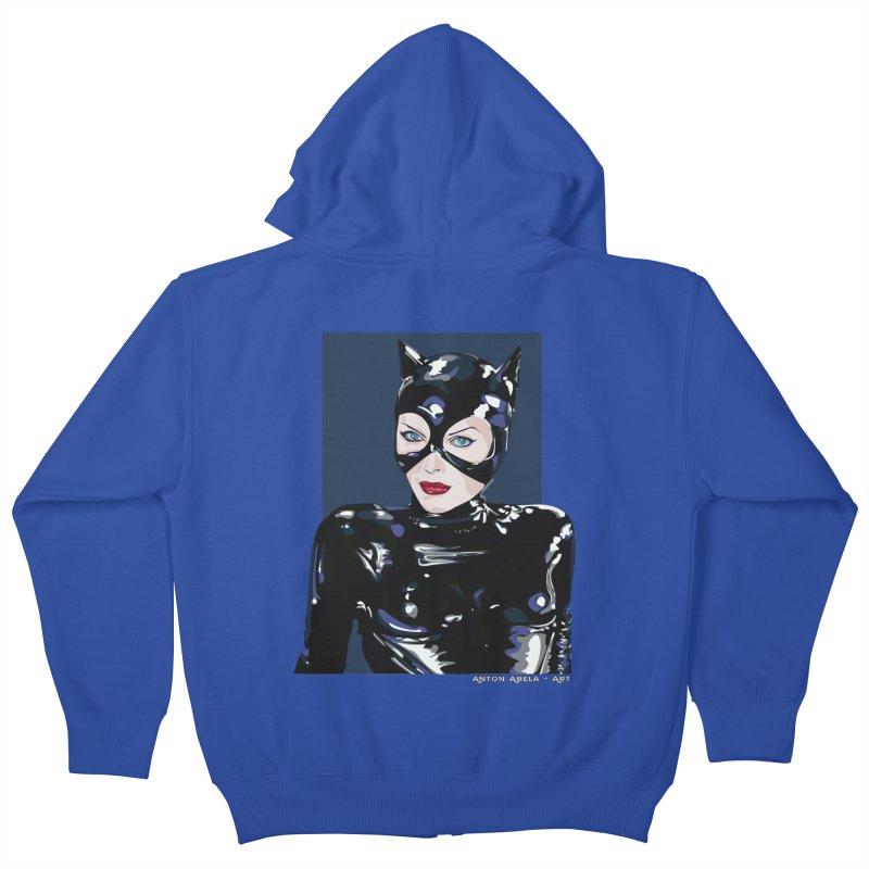 Meow! The Greatest Kids Zip-Up Hoody by AntonAbela-Art's Artist Shop