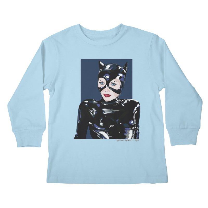 Meow! The Greatest Kids Longsleeve T-Shirt by AntonAbela-Art's Artist Shop