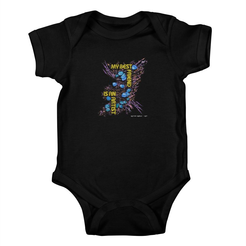 My Best Friend is an Artist Kids Baby Bodysuit by AntonAbela-Art's Artist Shop