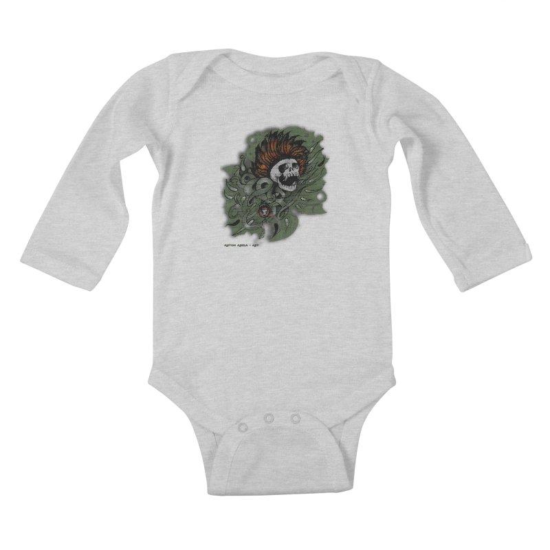 The Innate Spirit Kids Baby Longsleeve Bodysuit by AntonAbela-Art's Artist Shop
