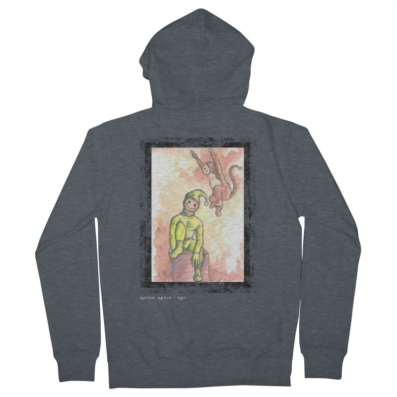 The Unexpected Leap Men's Zip-Up Hoody by AntonAbela-Art's Artist Shop