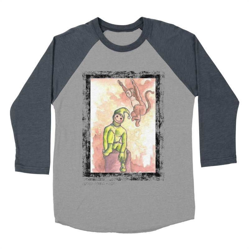 The Unexpected Leap Women's Baseball Triblend T-Shirt by AntonAbela-Art's Artist Shop