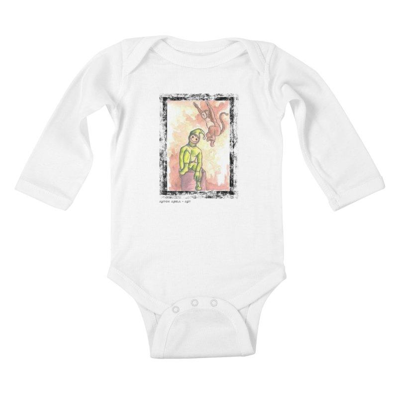 The Unexpected Leap Kids Baby Longsleeve Bodysuit by AntonAbela-Art's Artist Shop