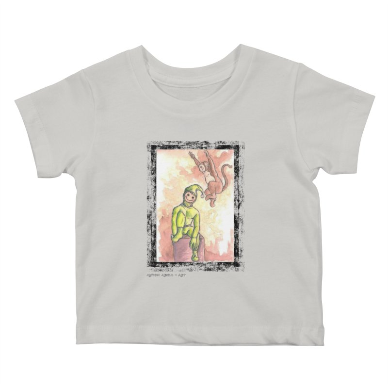 The Unexpected Leap Kids Baby T-Shirt by AntonAbela-Art's Artist Shop