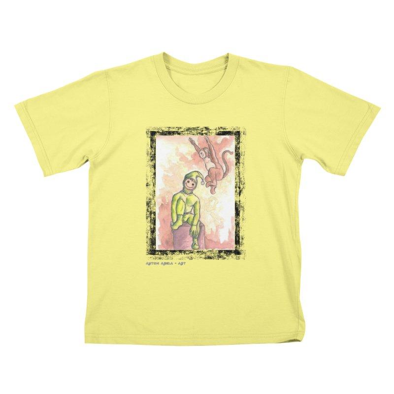 The Unexpected Leap Kids T-shirt by AntonAbela-Art's Artist Shop