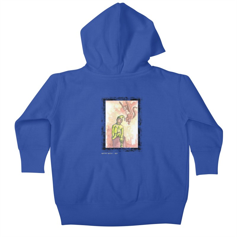 The Unexpected Leap Kids Baby Zip-Up Hoody by AntonAbela-Art's Artist Shop