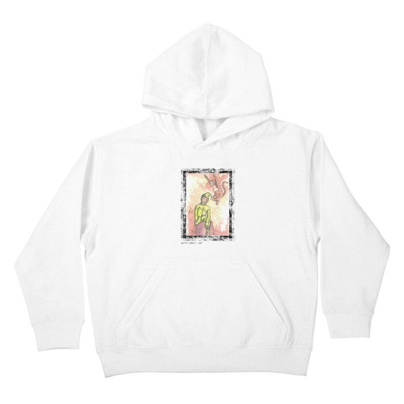 The Unexpected Leap Kids Pullover Hoody by AntonAbela-Art's Artist Shop