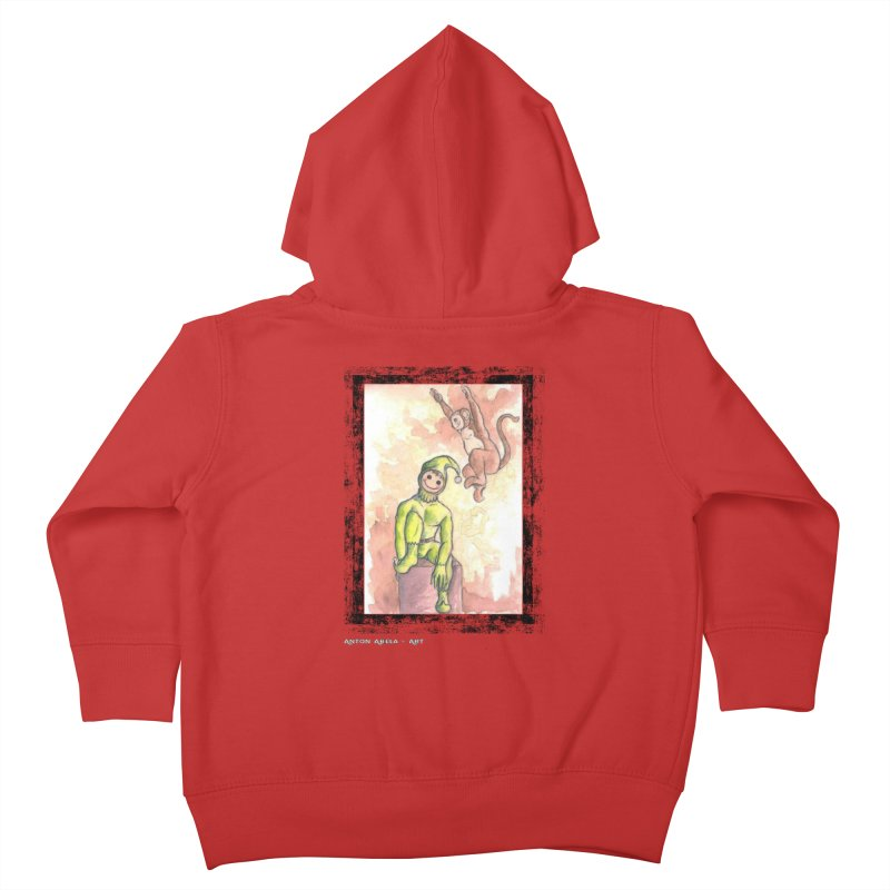 The Unexpected Leap Kids Toddler Zip-Up Hoody by AntonAbela-Art's Artist Shop