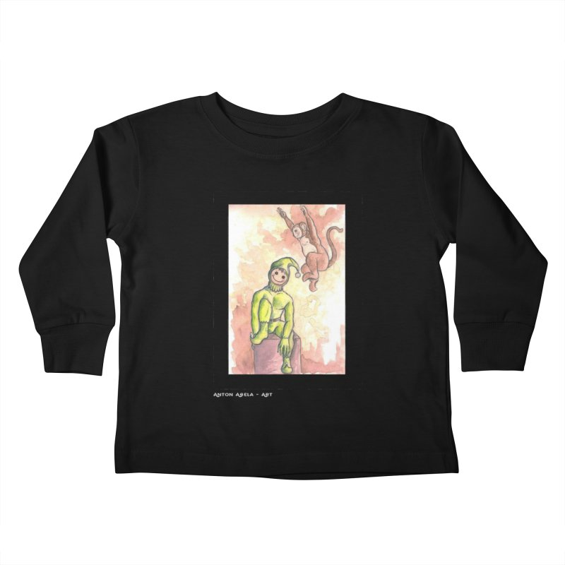 The Unexpected Leap Kids Toddler Longsleeve T-Shirt by AntonAbela-Art's Artist Shop