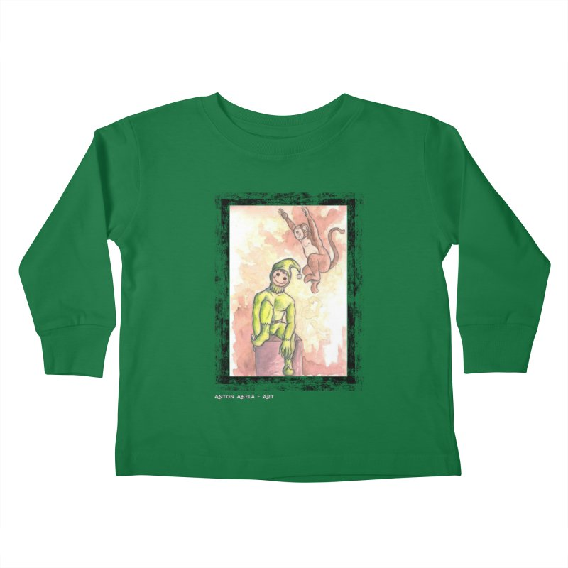 The Unexpected Leap Kids Toddler Longsleeve T-Shirt by AntonAbela-Art's Artist Shop