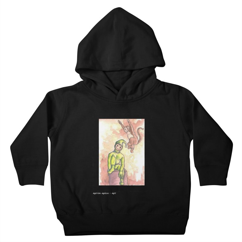 The Unexpected Leap Kids Toddler Pullover Hoody by AntonAbela-Art's Artist Shop