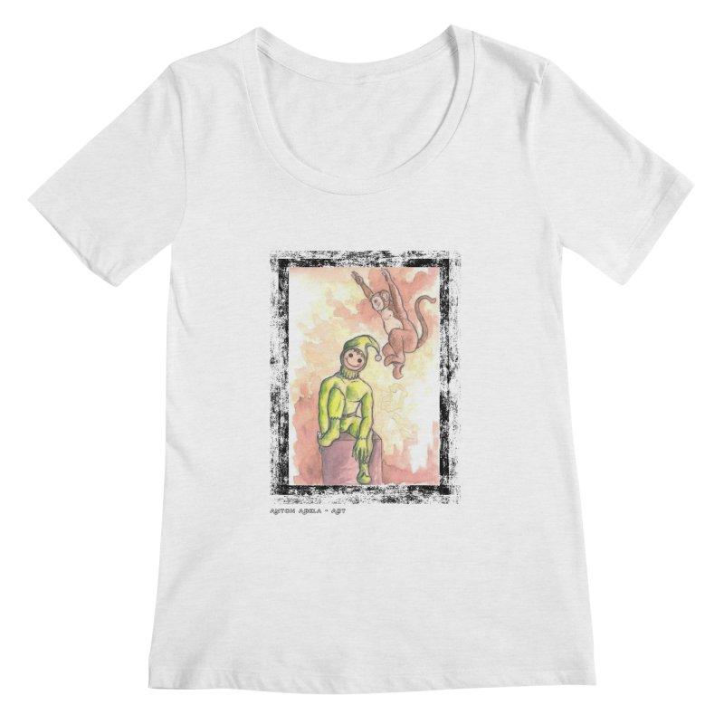 The Unexpected Leap Women's Scoopneck by AntonAbela-Art's Artist Shop