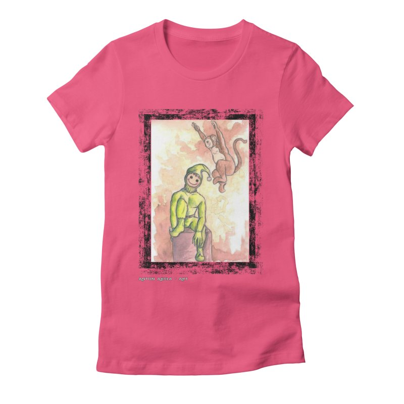 The Unexpected Leap Women's Fitted T-Shirt by AntonAbela-Art's Artist Shop