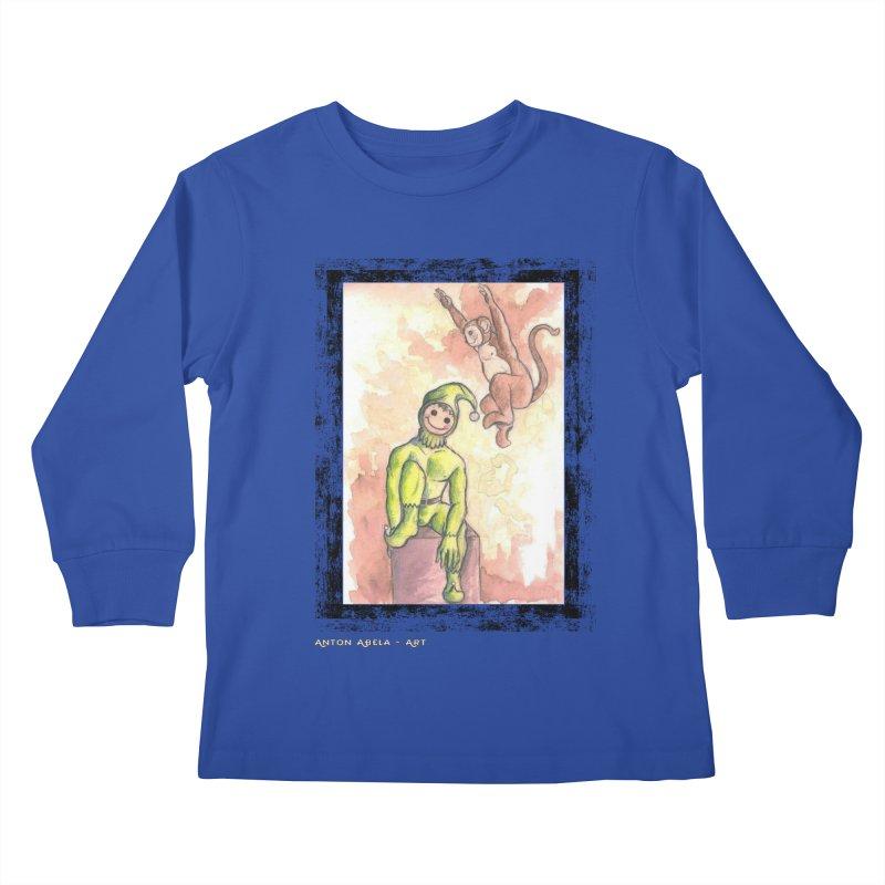 The Unexpected Leap Kids Longsleeve T-Shirt by AntonAbela-Art's Artist Shop