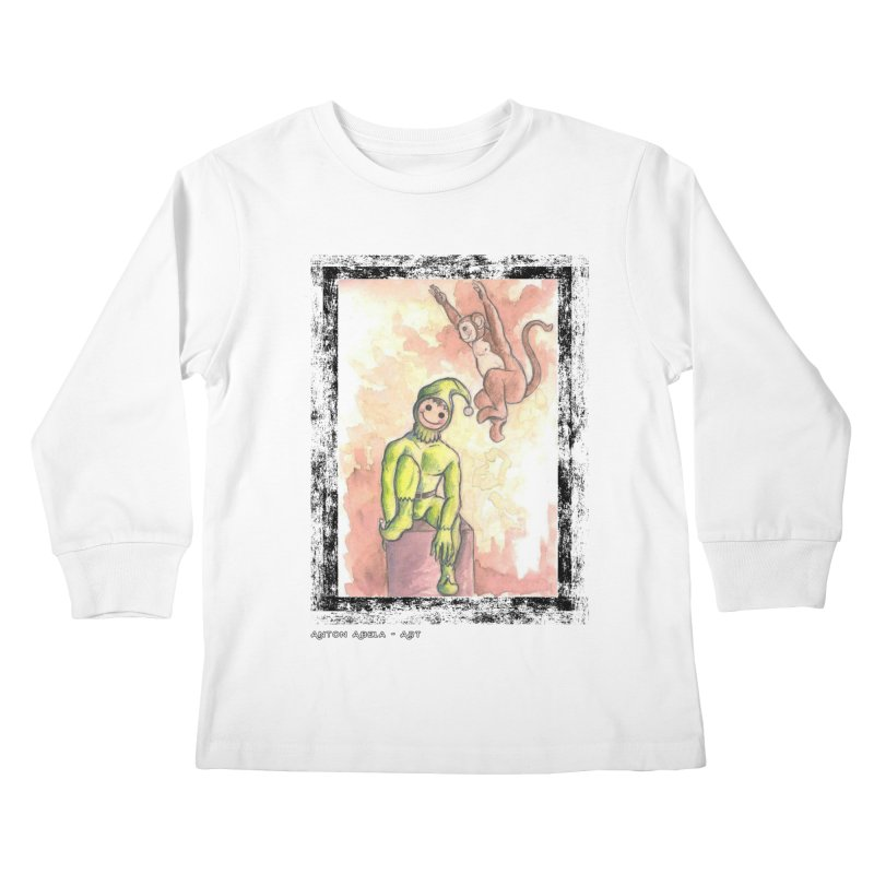 The Unexpected Leap Kids Longsleeve T-Shirt by AntonAbela-Art's Artist Shop