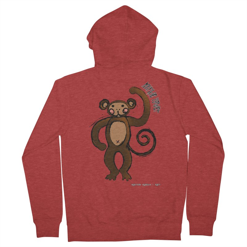 !! Munkie Power !! Men's Zip-Up Hoody by AntonAbela-Art's Artist Shop