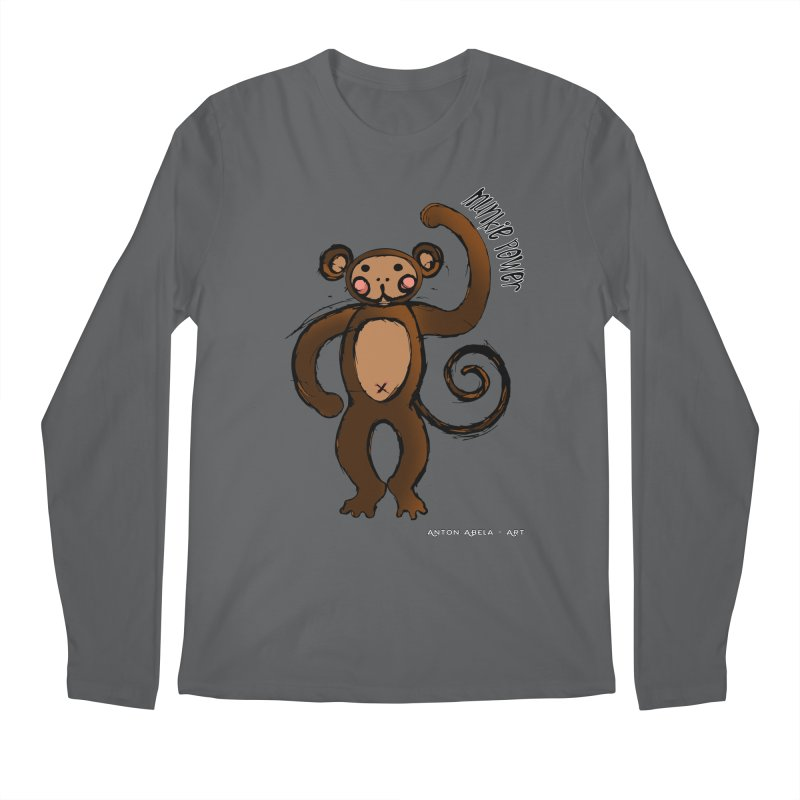 !! Munkie Power !! Men's Longsleeve T-Shirt by AntonAbela-Art's Artist Shop