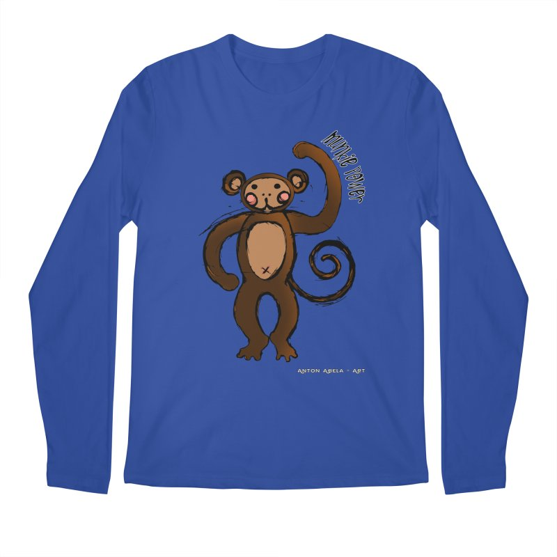 !! Munkie Power !! Men's Longsleeve T-Shirt by AntonAbela-Art's Artist Shop
