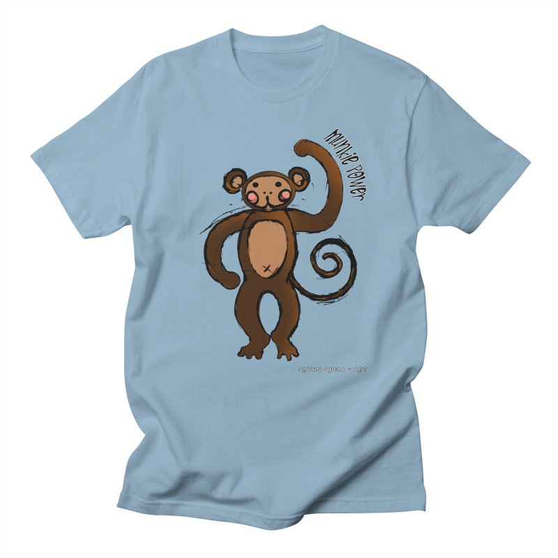 !! Munkie Power !! Men's T-shirt by AntonAbela-Art's Artist Shop