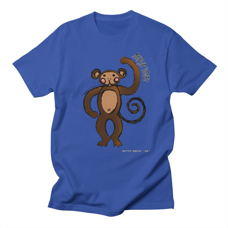 !! Munkie Power !! Women's Unisex T-Shirt by AntonAbela-Art's Artist Shop
