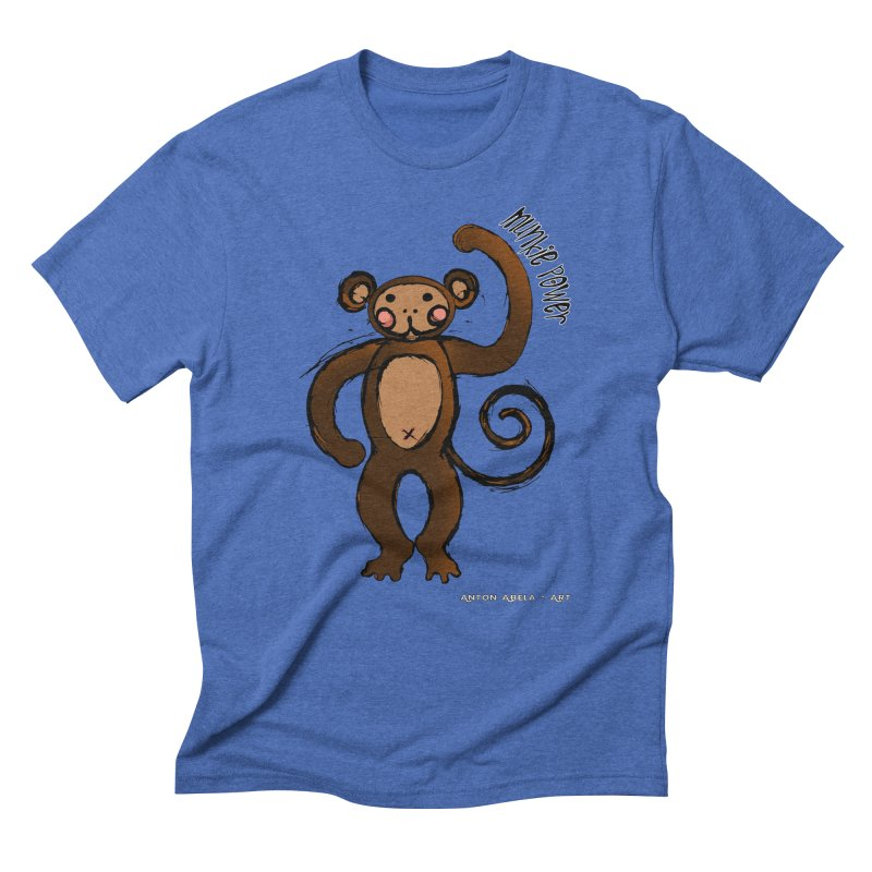 !! Munkie Power !! Men's Triblend T-shirt by AntonAbela-Art's Artist Shop