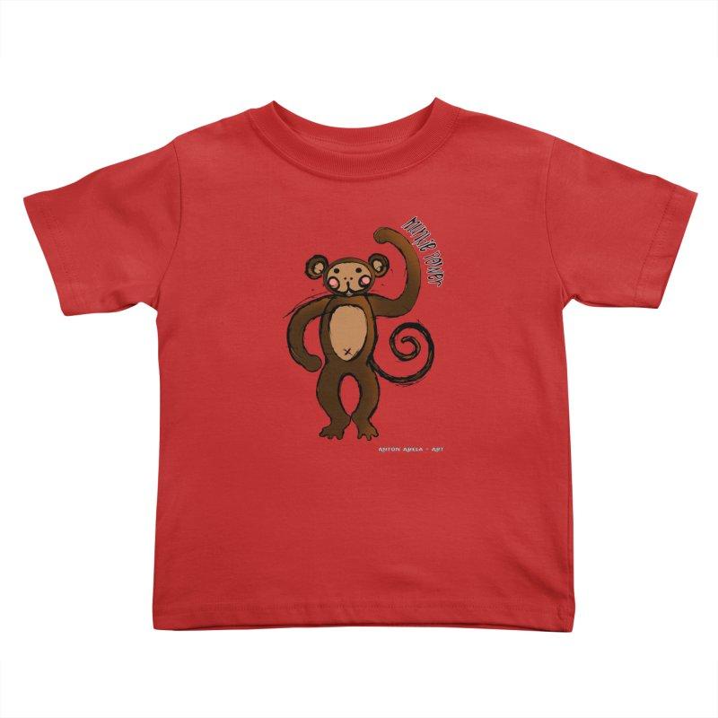 !! Munkie Power !! Kids Toddler T-Shirt by AntonAbela-Art's Artist Shop