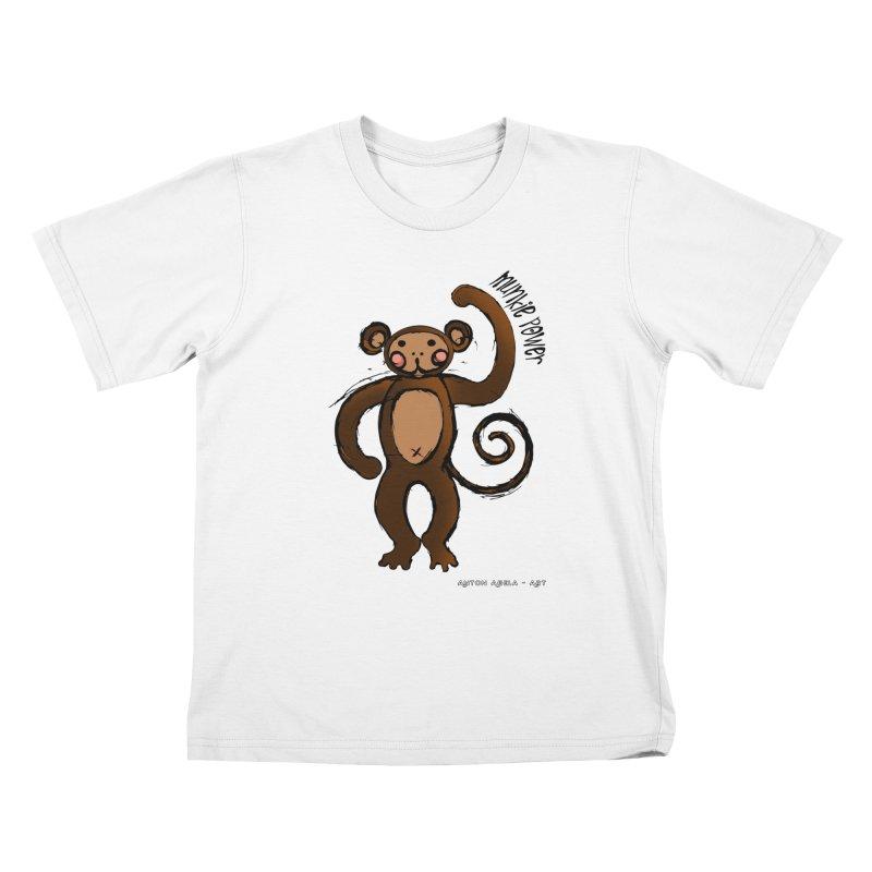 !! Munkie Power !! Kids T-shirt by AntonAbela-Art's Artist Shop