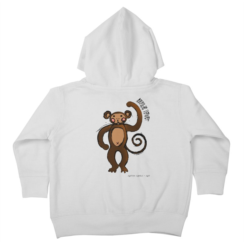 !! Munkie Power !! Kids Toddler Zip-Up Hoody by AntonAbela-Art's Artist Shop