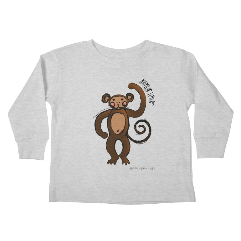 !! Munkie Power !! Kids Toddler Longsleeve T-Shirt by AntonAbela-Art's Artist Shop