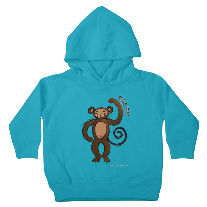 !! Munkie Power !! Kids Toddler Pullover Hoody by AntonAbela-Art's Artist Shop