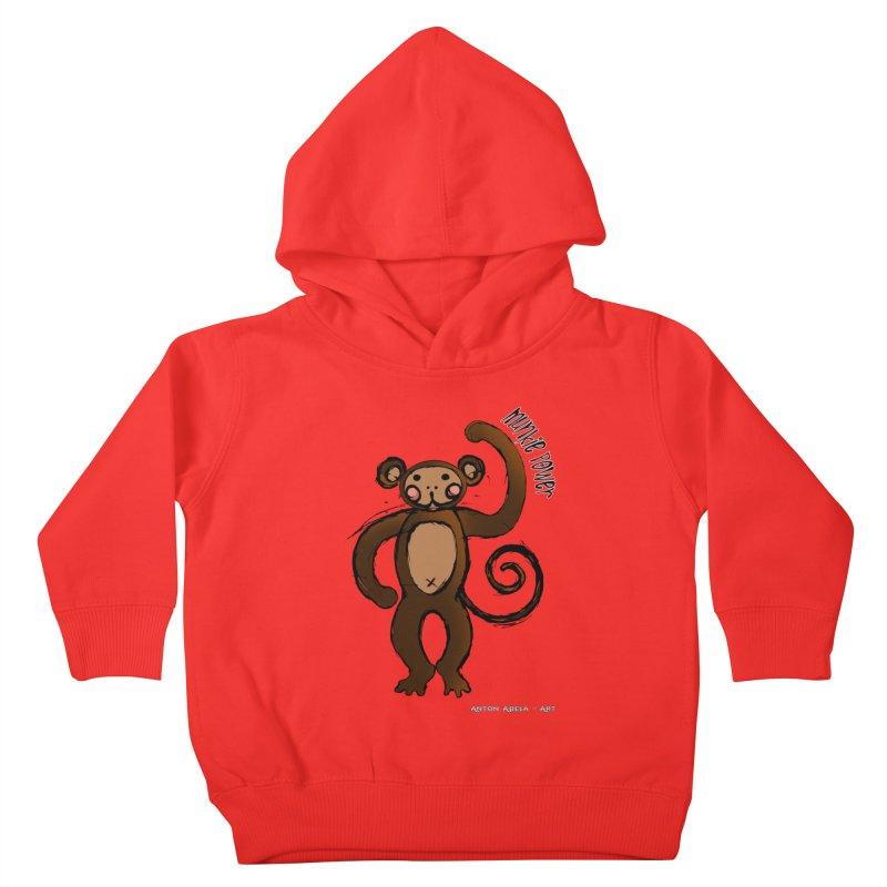 !! Munkie Power !! Kids Toddler Pullover Hoody by AntonAbela-Art's Artist Shop