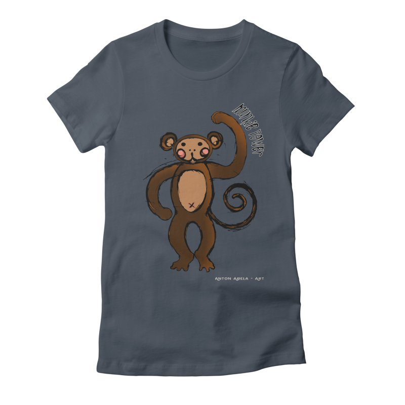 !! Munkie Power !! Women's T-Shirt by AntonAbela-Art's Artist Shop