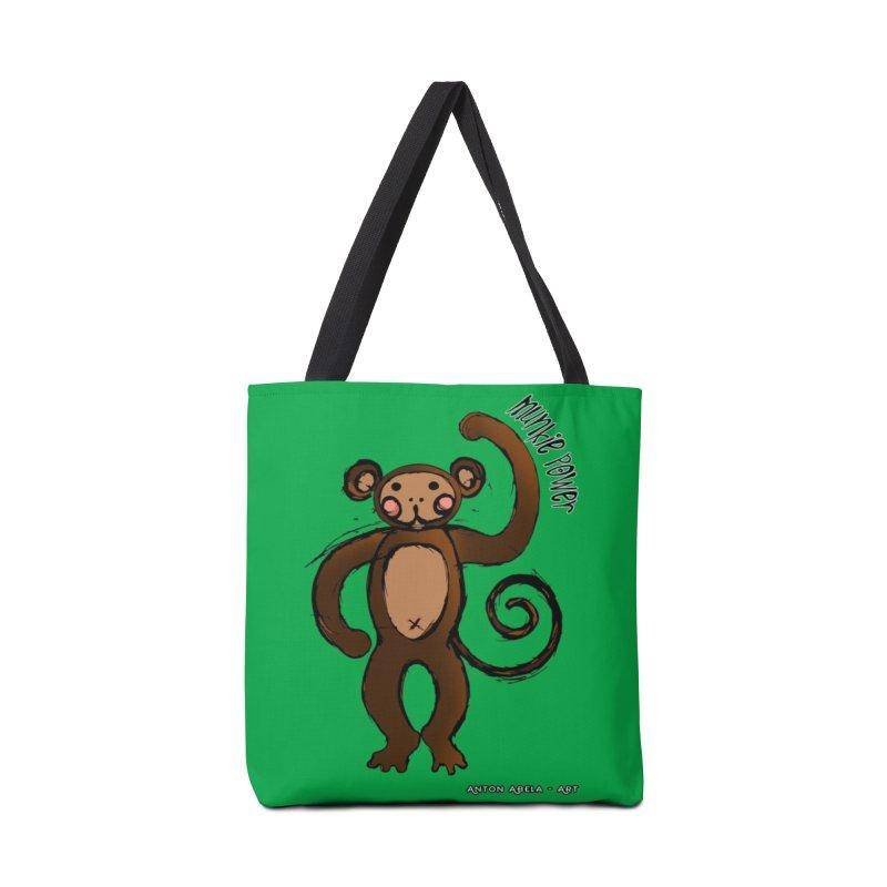 !! Munkie Power !! Accessories Bag by AntonAbela-Art's Artist Shop