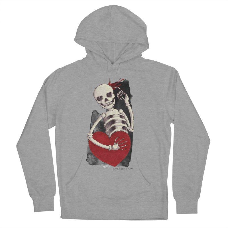 Grimly in Love Women's Pullover Hoody by AntonAbela-Art's Artist Shop